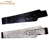 Luxury leather Genuine Lizard Stretch Belt for women high quality real leather belt for lady wholesale