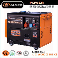 three phase 6kw Air-cooled 4-Stroke portable 110/220v diesel generator set
