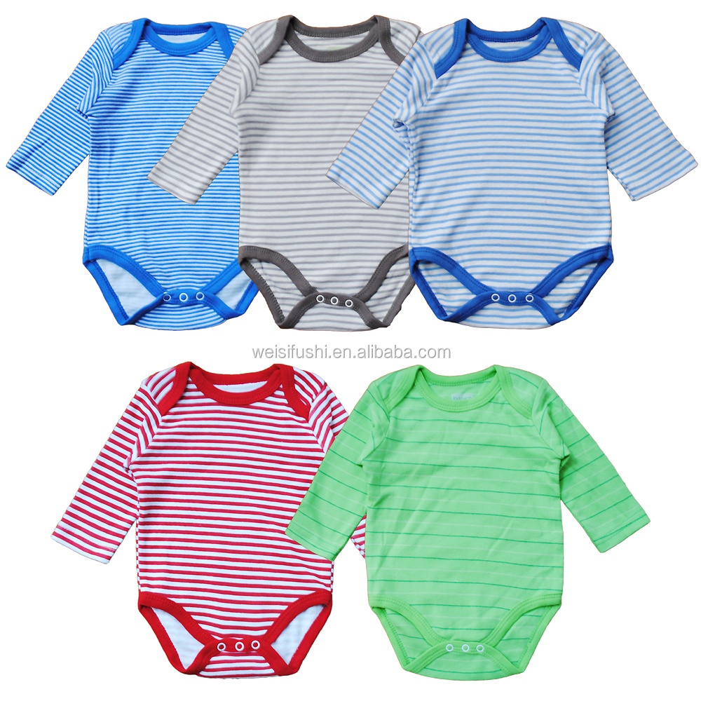 china custom design baby stripe cotton/spandex bodysuits