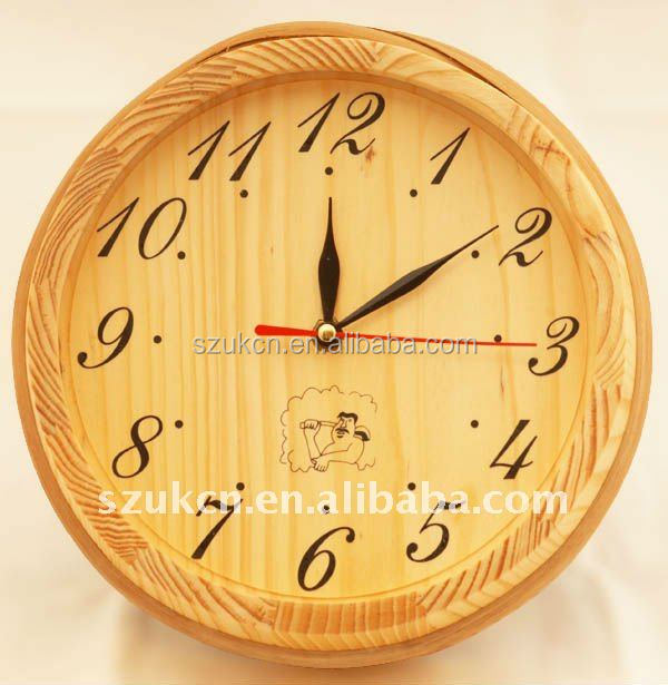 Sauna Clock for sauna room, Wooden Sauna Clock