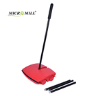 Manufacture supplier stainless steel rotating brush magic household cleaning broom carpet sweeper