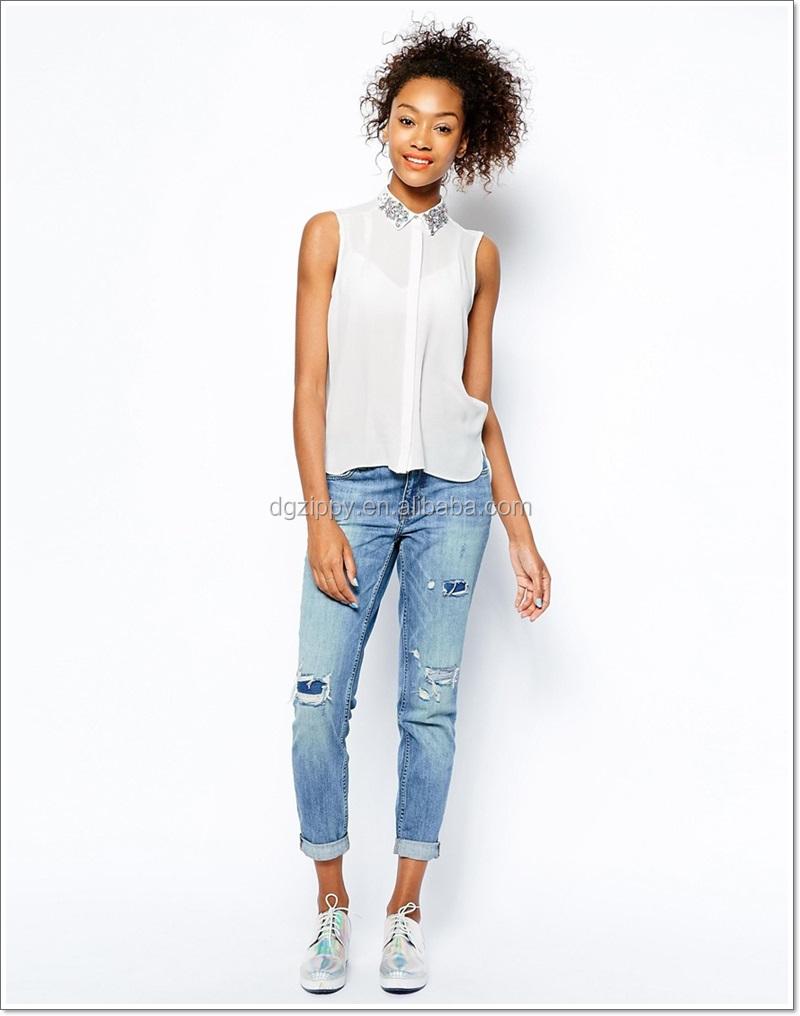 248a916abb551 موضة جديدة 2014 مزين الياقة ملابس نسائية قميص العصرية-بلوزات وبلايز ...