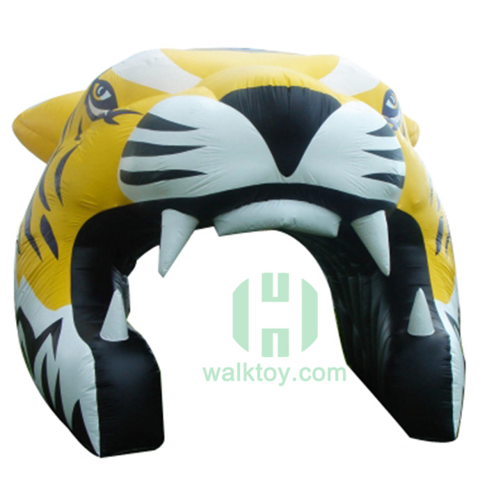 Tigger Head inflatable football tunnel rental play tent with tunnel