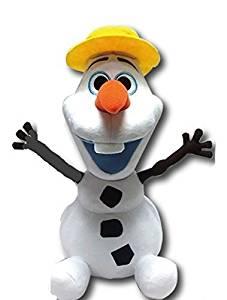 """Disney Japan. Frozen Soft Plush Smiling Olaf """"I Love Summer'. Total 14"""" H (37cm) .Limited Edition.Japan Import."""