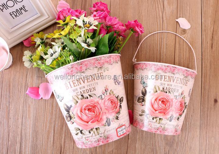 Applique da parete da giardino a metà intorno metallo vasi di fiori