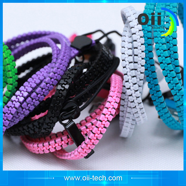 2016 new product funky zipper wire data line USB 2in 1 cell phone data cable