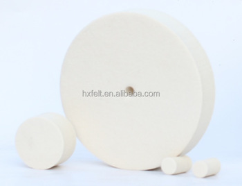DIN 4 inch wool felt polishing pads