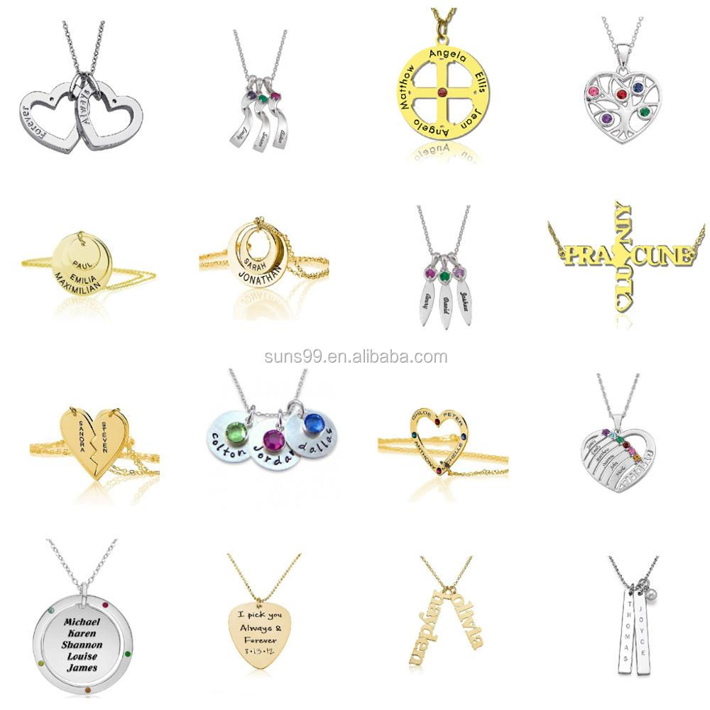 Best Personalized Gifts For Mom, Custom Design Stainless Steel Dainty Mama Letter Necklace