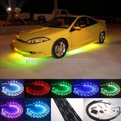 7 Kleuren Led Strip Onder Auto Buis Underbody Underglow Systeem ...