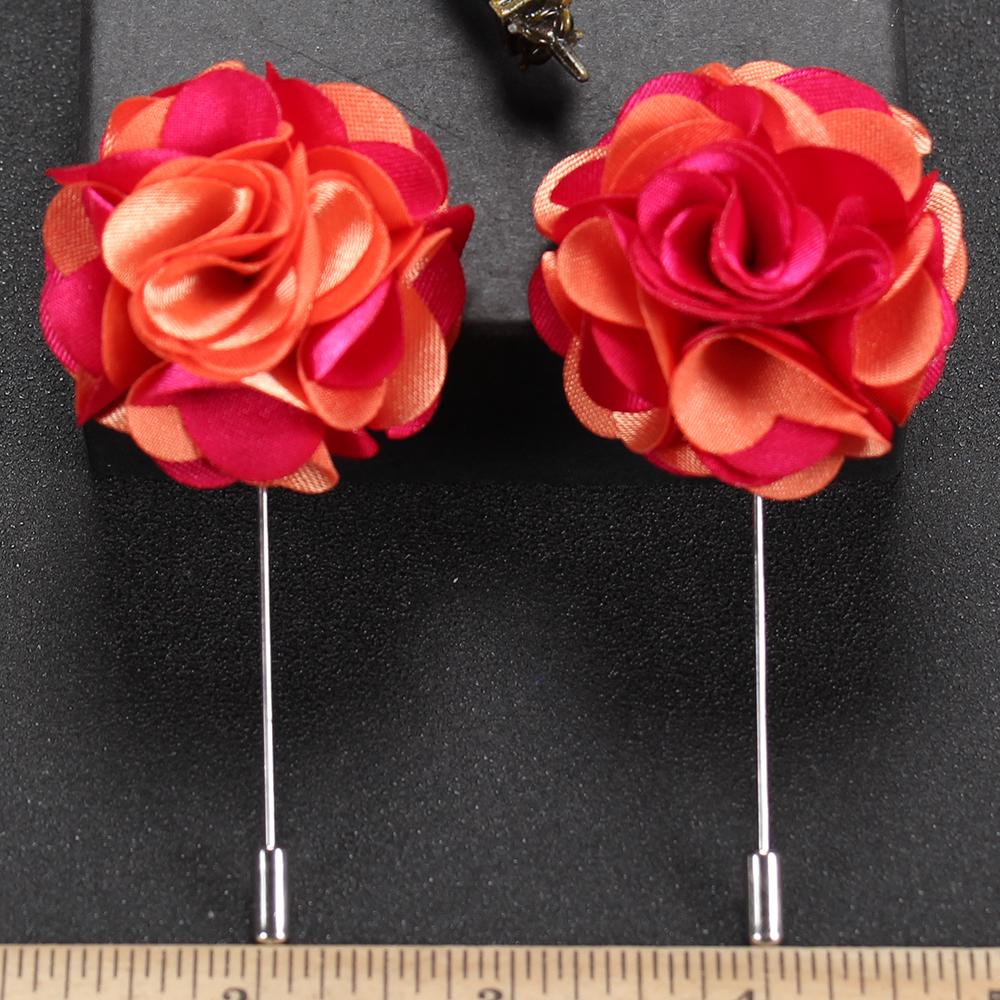 Stock Mens Fashion Floral Brooch Stick Fancy Suit Flower Lapel Pon