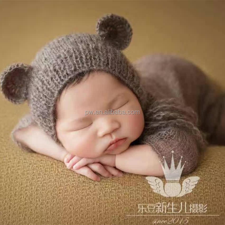 Bebé Ropa de punto bebé sombrero recién nacida del bebé sombrero ...