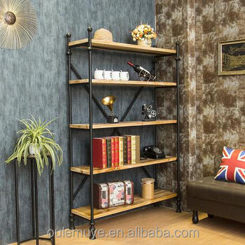 Whole Set Steel Frame Bookcase Portable Bookshelf