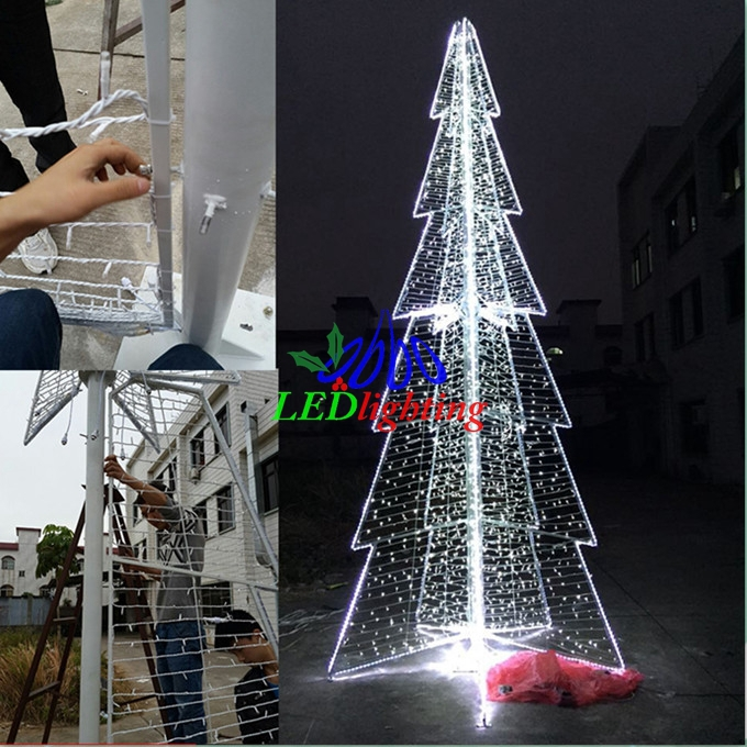 Outdoor Spiral Christmas Trees,Sculpture Motif Tree,White ...