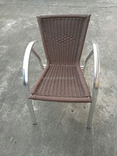 Cheap outdoor wicker aluminium frame chair