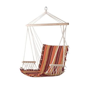 Outdoor Porch Hanging Patio Hammock Swing Chair Cotton Padded Swing Lounge  Chair