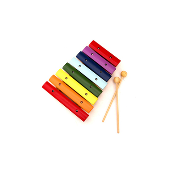 YH Mini lovely percussion toy colorful 8 keys xylophone baby musical toys