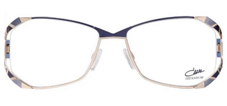 a9c55acab92 Get Quotations · Cazal 1098 Eyeglasses 002 Blue Gold   Clear Lens 55 mm