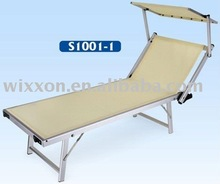sunshade folding beach sun lounger/bed