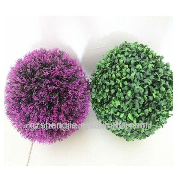 wholesale handmade grass ball artificial green boxwood ball in factory price for decoration