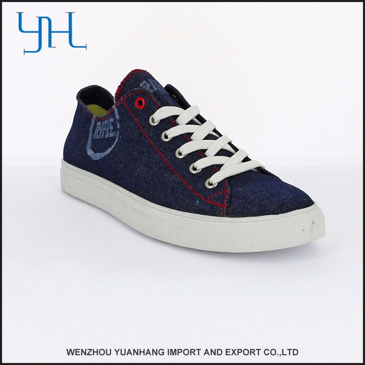High Quality Latest Denim Men Canvas Shoes