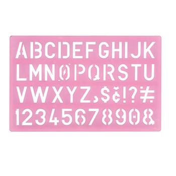 Large Alphabet Stencil Ruler Letter Font Templates