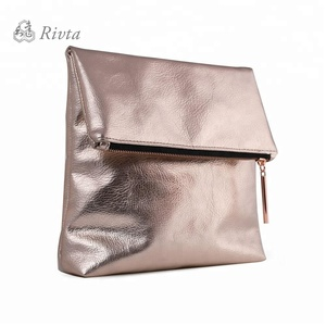 Ladies Pu Leather Vintage Rose Gold Designer Makeup Bags