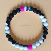 Hot selling jewelry string color silicone bead bracelets