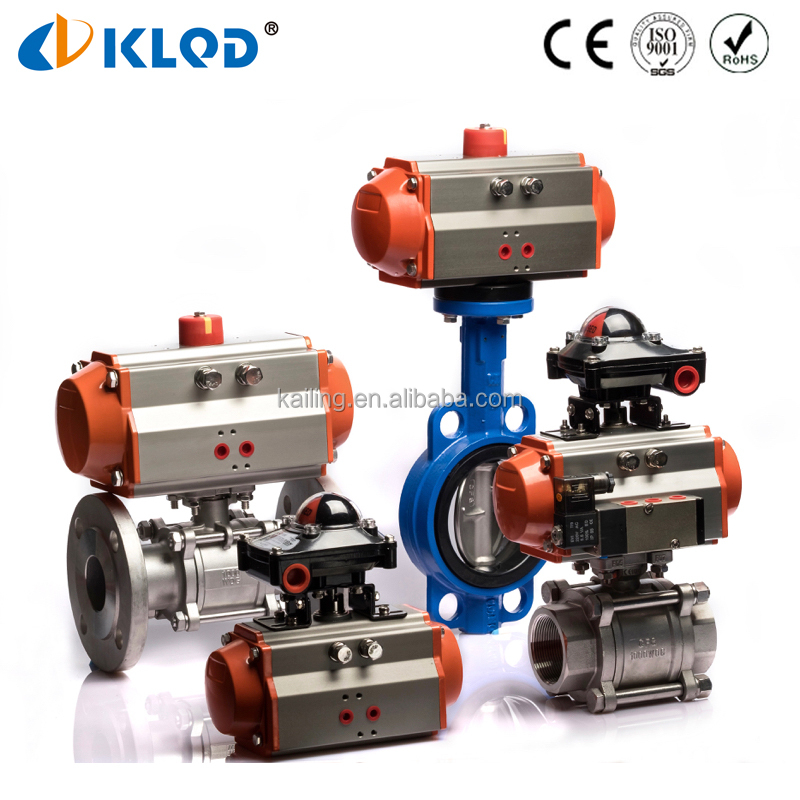 Q611F series 3 pieces air actuator thread connection pneumatic ball valve