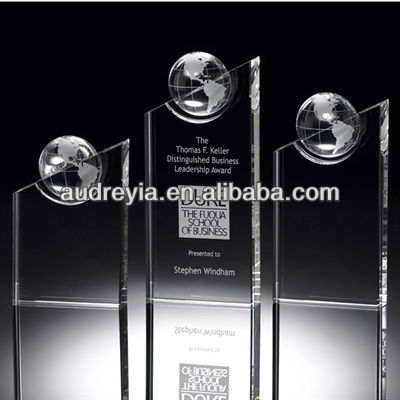 diamond crystal trophy with black crystal base hot sale