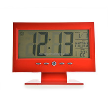 Hairong computer Monitor shape alarm clock with calendar and temperature