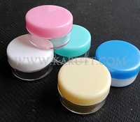 Colorful Cosmetics plastic eye shadow cream container box jar