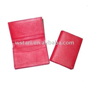 pu leather name card bag organizer