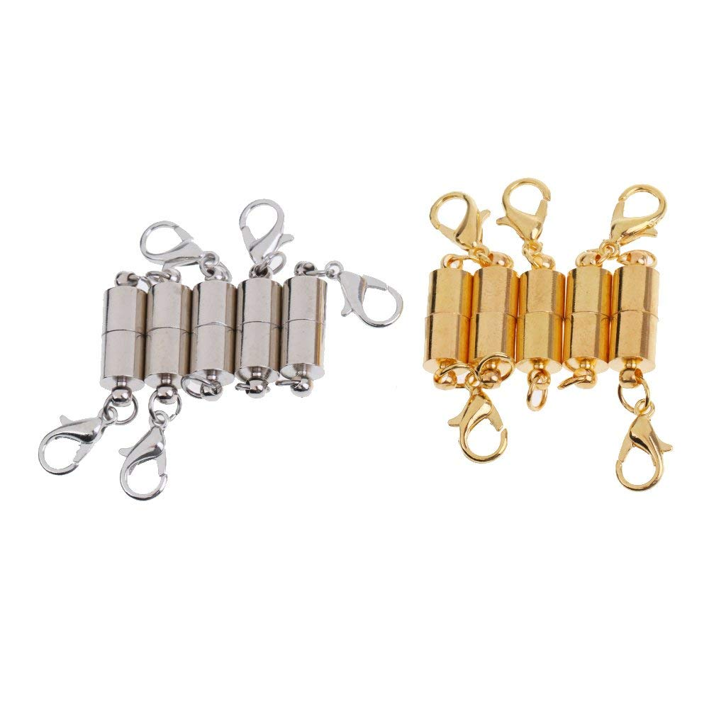 Get Quotations Magideal 10 Pieces Cylinder Jewelry Clasps Magnetic Findings Hooks Diy Jewellery Fastener Connectors