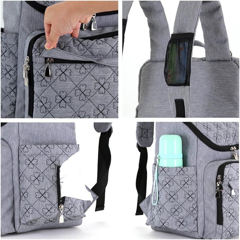 尿布背包尼龙绝缘口袋婴儿袋,婴儿推车背带附有换尿布垫