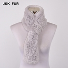 Custom Made European Style Real Rex Rabbit Warm Scarf for Woman in Winter