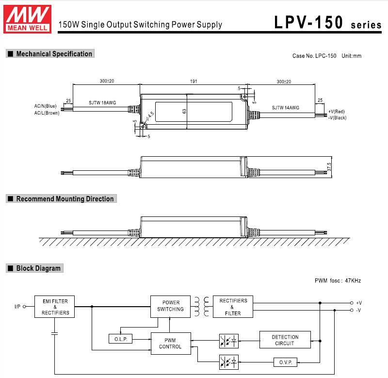 well lpv 150 12 wiring diagram well power supply how to connecting wiring diagram