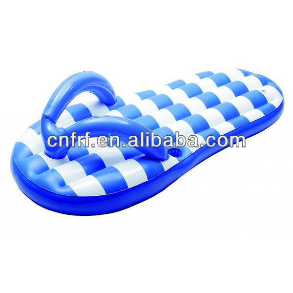 inflatable flip flop lilo slipper raft