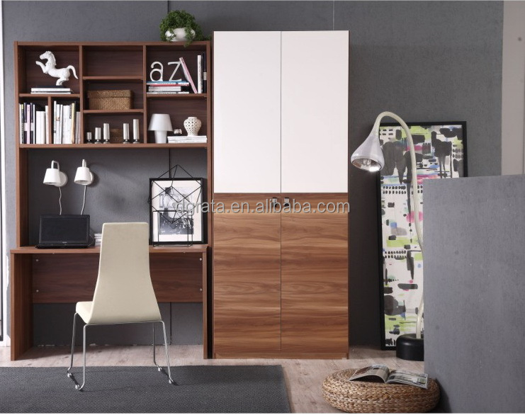 2014 New Design Study Table With Bookshelf And The