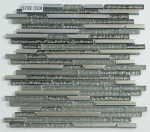 Metallic Glass Mosaic Tile Mesh Backed Mosaic Tiles