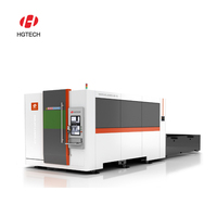 HGTECH i5 automatic embroidery cnc fiber laser cutting machine hot price for laser business