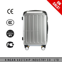 Men and women ABS aluminum frame cool luggage suitcase trolley bag for travel