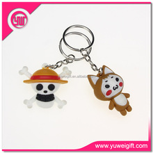 Custom Souvenir Soft PVC Keychain Rubber 3D Wholesales Key tag