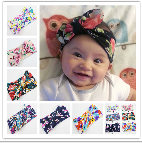 New simple Bohemian fashion <strong>hair</strong> <strong>accessories</strong> children's baby printed cross <strong>hair</strong> band