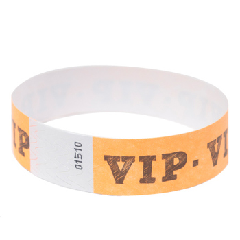 Cheap sequentially numbered DuPont tyvek wristbands for charity