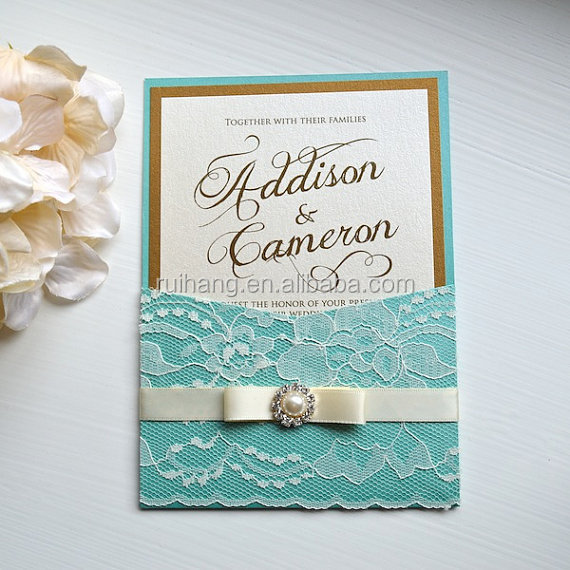 Buy Wedding Invitation Cards Online: The Simple Graceful With Sky Blue Wedding Invitation Cards