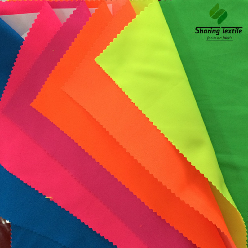 Wholesale Bright Color Polyester Fabric/Safety Bright Polyester Fabric/Reflective Bright Color Polyester Fabric