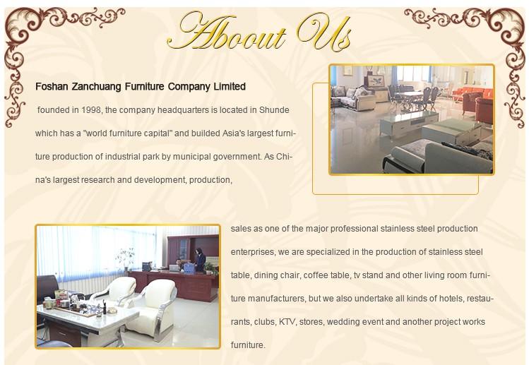 Mesa de café de acero inoxidable mesa de té de mármol artificial de lujo muebles de estilo