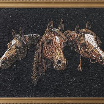 marmor pferd mosaik muster fr wand depot - Muster Fur Wand