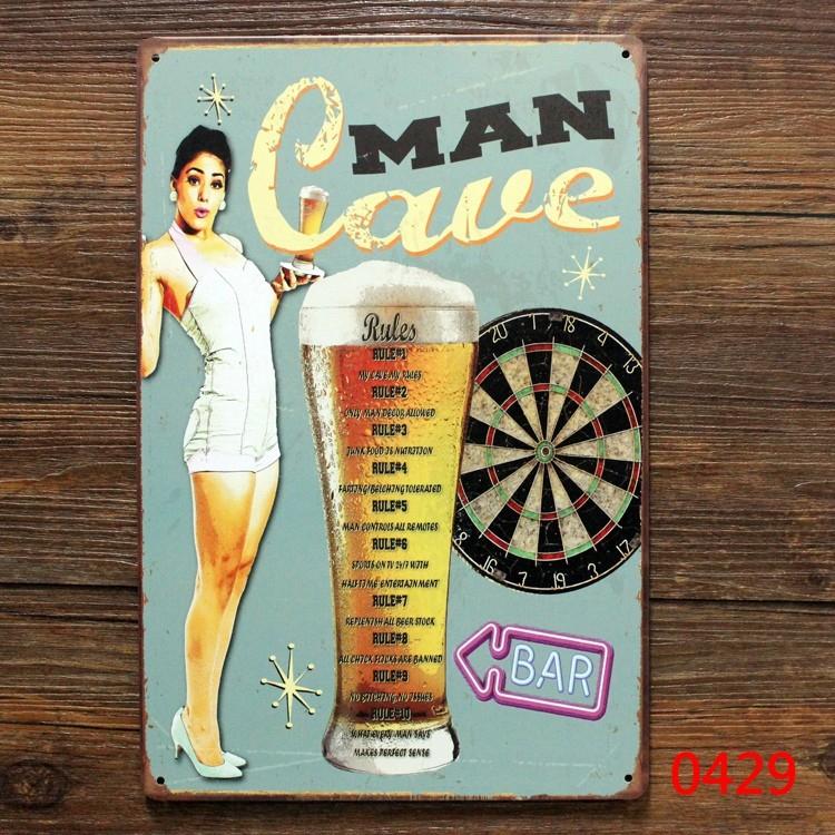 Free shipping Vintage bar metal tin signs Bar pub home Wall Decor Retro Metal Art Poster Beer  Wine ,30x20cm