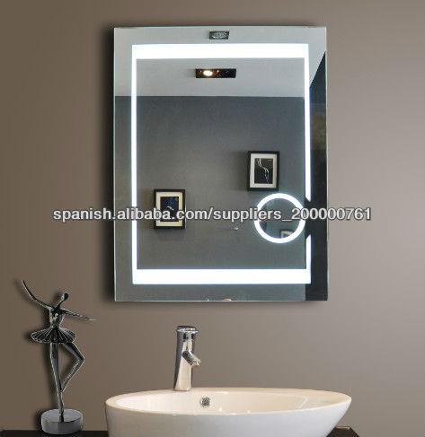 Espejo de aumento de ba o con luz espejos de ba o - Armario de bano con espejo y luz ...